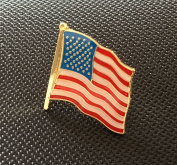 STARS AND STRIPES UNITED STATES OF AMERICA FLAG ENAMEL PIN BADGE (PB10) BIGGER THAN OTHERS A GREAT GIFT