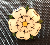 YORKSHIRE ROSE ENAMEL PIN BADGE (PB7) BIGGER THAN OTHERS A GREAT GIFT
