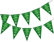 Happy St Patrick Day - Clover - Bunting Banner 15 flags for guaranteed simply stylish party decoration by PARTY DECOR