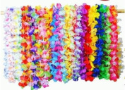 ThinkMax 36 Pcs Hawaii Lei, Silk Flowers Necklace Bracelet, Garland Party Favour for Beach Theme