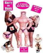Harry the Hunk 1.5m Inflatable Blow Up Doll Man Hen Stag Night Party Bride to Be
