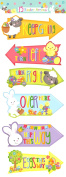15 Easter Hunt Arrows Kids Party Home Decoration Garden Egg Game Fun Family Sign Directions Maps Rabbit Bunny Chick