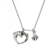 Chrysalis Rhodium plate Aphrodite's heart adjustable length charm necklace. Wear your necklace, with its sweet shell charm, as a messenger for love and harmony.