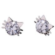 Cosanter S925 Silver Stud Earrings Cat-Shaped Glittering And Translucent Elegant Women Jewellery