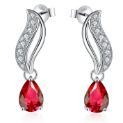 """925 Sterling Silver Stud Earrings for women, Jewellery for Ladies, 5A Cubic Zirconia J.Rosée Jewellery """"Love You Forever"""" Best Valentine Gift for Women with Gift Packed"""