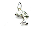 SOLID 925 STERLING SILVER SMALL NEFERTITI HEAD GIFT JEWELLERY CRAFT NECKLACE PENDANT / CHARM - 25mm