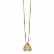 Leslie's 14K Two-tone Gold Satin Triangle Necklace LF924-17