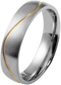 Akzent Men Wedding Promise Couple Ring Set Size