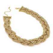Gorgeous Gold colour platted chain necklace   FREE UK DELIVERY   SAVE 50%