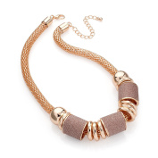 Gorgeous Rose gold and rose gold glitter colour chain necklace   FREE UK DELIVERY   SAVE 50%