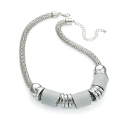 Gorgeous Shiny rhodium and silver glitter colour chain necklace   FREE UK DELIVERY   SAVE 50%