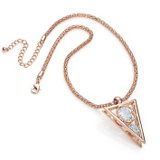 Gorgeous Rose gold colour CZ crystal chain pendant necklace   FREE UK DELIVERY   SAVE 50%