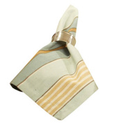Sweetwater Aqua Stripe 18 x 18 All Cotton Napkin Pack of 4