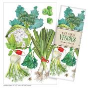 Mary Lake-Thompson Eat Your Veggies Cotton Flour Sack Dish Towel