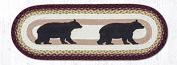 Earth Rugs Jute Table Runners Earth Rugs Op-395 Cabin Bear Oval Patch Runner 33cm X 90cm 36 X 0.4cm X 33cm Multicoloured