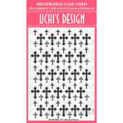 Uchis Rubber Uchi's Design Clear Stamps 10cm x 15cm , Cross Background