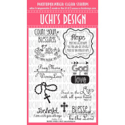 Uchis Rubber Uchi's Design Clear Stamps 10cm x 15cm , Blessings