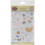 Justrite Papercraft Rubber Just Rite Clear Stamp Set 10cm x 15cm , Sing Out Loud