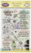 Justrite Papercraft Rubber Just Rite Paper craft Clear Stamps 10cm x 15cm -Peace and Joy Sentiments