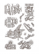 Justrite Papercraft Rubber Just Rite Paper craft Clear Stamps 10cm x 15cm -Great Joy