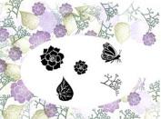 Card-io Begonia Garden Peg Stamps
