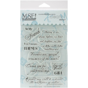 MSE Rubber My Sentiments Exactly Clear Stamps 10cm x 15cm Sheet-Friendship