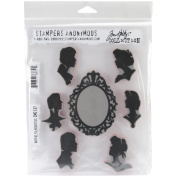 Tim Holtz Stamps Stampers Anonymous Artful Silhouettes Rubber Stamp