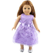 Lace Dress For 46cm American Girl ,AmaMary Lace Doll Clothes Dress with Ribbon For 18 American Girl Generation Doll