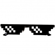 Winkey Funny Toy for Kids, Thug Life Glasses 8 Bit Pixel Deal With IT Sunglasses Unisex Sunglasses Toy