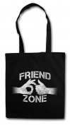 Friend Zone I Shopper Reusable Hipster Shopping Cotton Bag