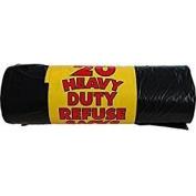 100 HEAVY DUTY Black Bin Bags Rolls Refuse Sacks Rubbish Liners