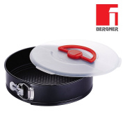 TORTIERA RENBERG Opening with Side Zip, Removable and practical Lid Fund for the transport Diameter 26 cm – Carbon Steel With Non-Stick Coating, Ideal for Pan of Spain, Charlotte Cheesecake – Special Fund with Milled Face, Cake Mould Round Baking Tin R ..