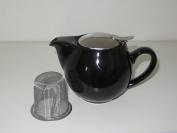 """'""""Saara Porcelain Jug with Lid and Filter, 0.9 Litre, Porcelain, black, 0,9 l"""