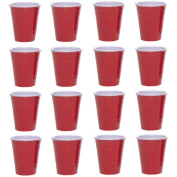 Drinkmate (16 Pack) Reusable Mini Cups 60ml Red Solo Cup Style Party Shot Glasses Plastic Jello Shooters