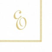 Entertaining with Caspari Monogram Initial E Paper Cocktail Napkins, Pack of 20