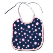 Glowing Pink Flowers Polyester 9x8 Baby Bib