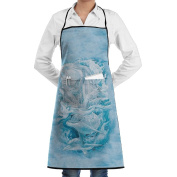 Kitchen Apron Bergsma Dolphins Women Bib Canvas With Pockets Breathable Machine Washable For Kitchen