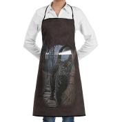 Kitchen Apron A Brush With Magic Women Bib Canvas With Pockets Breathable Machine Washable For Kitchen