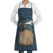 Kitchen Apron Bewitched Women Bib Canvas With Pockets Breathable Machine Washable For Kitchen