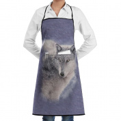 Kitchen Chef Works Apron Adventure Wolf Professional 100% Polyester With Pockets Durable Lightweight For Man/women