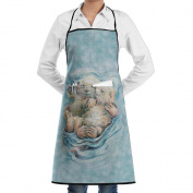 Kitchen Apron A Love Like No Otter Women Bib Canvas With Pockets Breathable Machine Washable For Kitchen