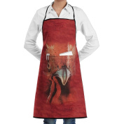 Kitchen Apron Big Cock Head Women Bib Canvas With Pockets Breathable Machine Washable For Kitchen