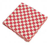 Red Cheque Wire Cone Basket Liner - 100 ct