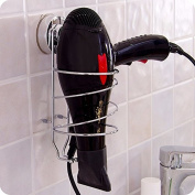 Powerful Suction Stainless Steel Hair Dryer Holder Bathroom Non-smearing Wall Sucking Hair Dryer Shelf