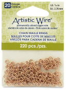 Beadalon 0.3cm 220 Piece Artistic Wire 20-Gauge Natural Chain Maille Rings