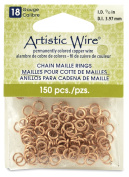 Beadalon 0.6cm 150 Piece Artistic Wire 18-Gauge Natural Chain Maille Rings