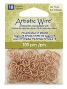 Beadalon 0.6cm 100 Piece Artistic Wire 18-Gauge Natural Chain Maille Rings