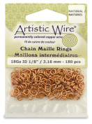 Beadalon 0.3cm 180 Piece Artistic Wire 18-Gauge Natural Chain Maille Rings