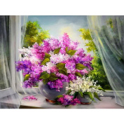 5D DIY Diamond Painting,NACOLA Rhinestone Pictures Of Crystals Embroidery Kits Arts Crafts & Sewing Cross Stitch For Home Decoration-Gorgeous Flowers
