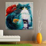 Bodhi2000® Multi-Colour Cat 5D Diamond Embroidery Painting Animal Rhinestone Cross Stitch Decor DIY